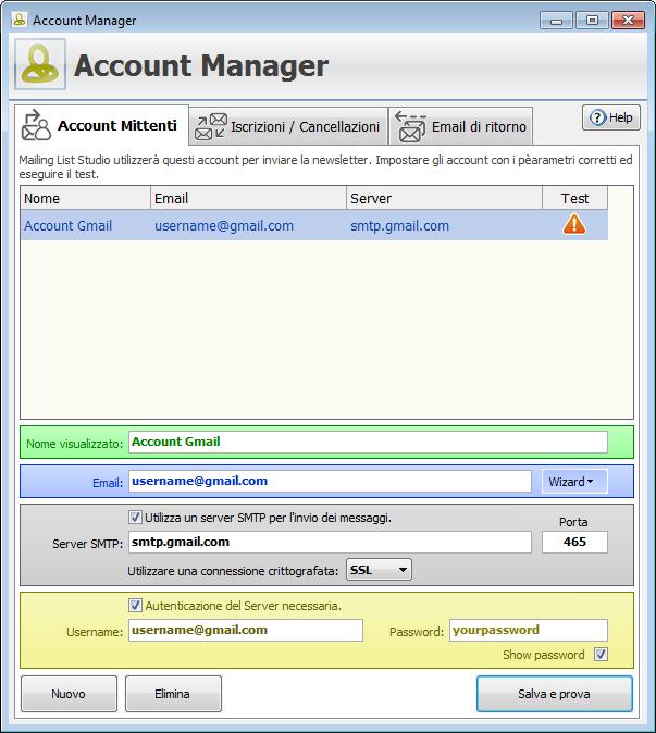 Account settings Gmail